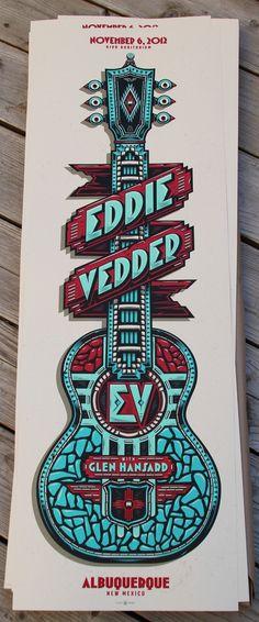 Eddie Vedder's Albuquerque Poster #poster