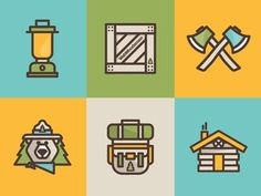 Webwoodsmen Icons #woodsmen #colors #camping #icons