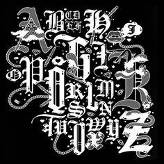 Blackletter font booklet design #type #blackletter #font #typography