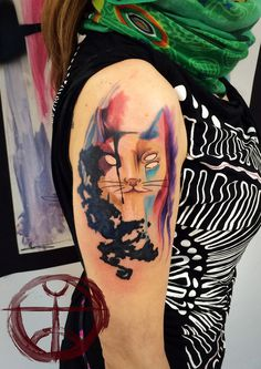 Abstract Cat tattoo #abstract #tattoo #cat