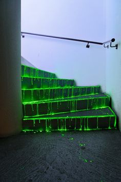 END OF THE WORLD MEDIA #slime #bold #stairs #dark #neon