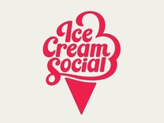 Dribbble - Ice Cream Social by Patrick Mahoney #branding #cream #logo #type #ice
