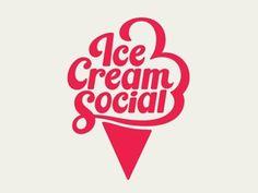 Dribbble - Ice Cream Social by Patrick Mahoney #branding #cream #logo #type #ice