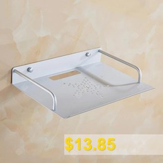 Concise #Space #Aluminum #Mounting #Bracket #STB #Shelf #Network #Router #Wall #Hanging #Holder #- #CRYSTAL #CREAM