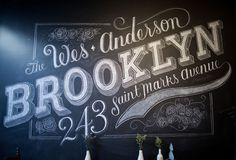 Dana Tanamachi / Custom Chalk Lettering #design #graphic #chalk #art #brooklyn #typography