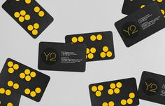 Y2 Architecture #business #card #yellow #bold #circles #black #clean