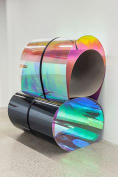 Have a Nice Day #holographic #iridescent #materials #perspex #colour #foil