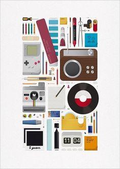 Andrea Manzati WATM Magazine retro office supplies Illustration - Jared Erickson | Jared Erickson