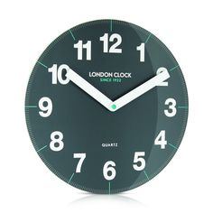 London Clock Company 'Ignite' Letter Wall Clock White, 30cm x 3.5cm