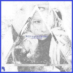 Novelty Cross// #woman #cross #black #stippling #women #triangle #novelty #grey #typography
