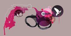 Guilty : Phill Rees #gun #illustration