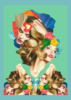 Rainbow on Behance #collage