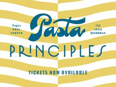Pasta Principles