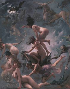 Witches going to their Sabbath (1878), by Luis Ricardo Falero - Luis Ricardo Falero - Wikipedia, the free encyclopedia #art #painting