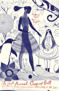 Croquet Ball : Jillian Tamaki #illustration