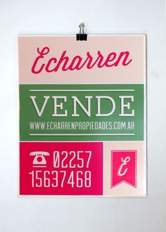 Echarren Real Estate #brand #poster #logo #layout #typography