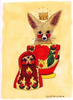 RICARDO·CAVOLO DIARY #ricardo #illustration #fox #cavolo