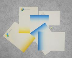 Diego Fellay - Graphic Design - 2011 #stationary #identity #branding #gradient