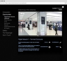 rLondon City Airport. Media Sales Mircosite.