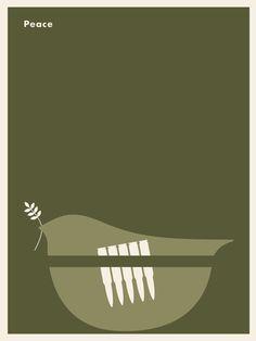 Peace #poster #minimalist #jason munn #peace #dove