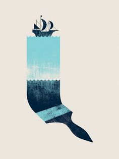 paint the sea #illustration #ship #texture #paintbrush