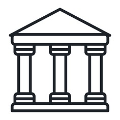 See more icon inspiration related to museum, cultures, banks, banking, classical, temple and buildings on Flaticon.
