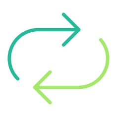 See more icon inspiration related to synchronization, arrows, direction, multimedia option, orientation and interface on Flaticon.