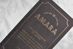 Amara by Firmalt #business card #graphic design #print