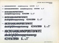 Lydian Bold Condensed font specimen #type #specimen