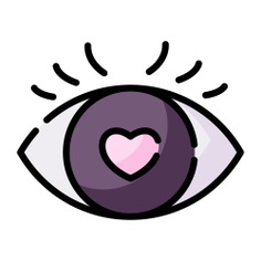 See more icon inspiration related to eye, love, heart, love and romance, romantic and in love on Flaticon.
