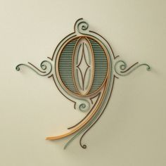 YIPPIEHEY #ornaments #art #deco #type #3d #jugendstil