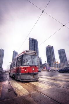 All sizes | The 510 | Flickr - Photo Sharing! #urban #streetcar #lines #sky #ttc #texture #angles #toronto