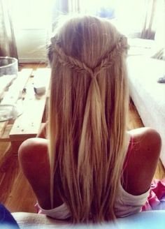 Another beautiful braid; the fishtail braid. This one works so well with blonde since you can see the intricacy of the braids unlike with a
