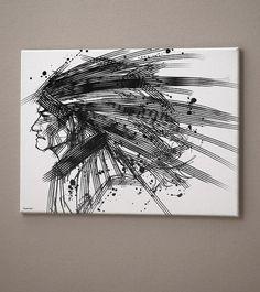StrokeattitudeMan Art Canvas print 12x16inch Jimmy Tan by eggmost