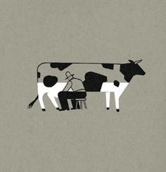79e75297a56f0674b6438b43240626d5 #illustration #milk #cow