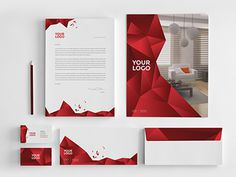 Interior Design Stationery. Download here: http://graphicriver.net/item/interior-design-stationery/7003907?ref=abradesign #red #pattern #modern #brand #minimal #gradient #stationery #3d