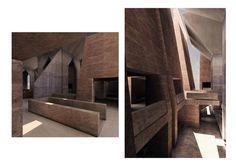 Model of Hurva synagogue interior, Louis Kahn
