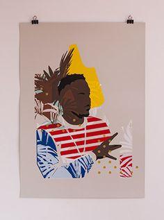 screenprint inspired by Kendrick Lamar - Money trees - PrintMakingMoneyGang #PrintMakingMoneyGang #screenprint #gezeever #KendrickLamar