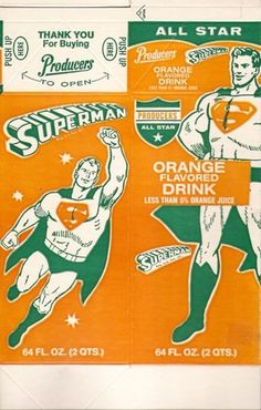 All sizes | Old Producers Superman Orange Drink Carton | Flickr - Photo Sharing!