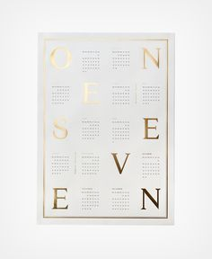 """ONE SEVEN"" is the name of the new 2017 calendars designed by Kristina Krogh from Denmark Copenhagen. The prints come in a size of 50 x 70 c"