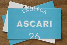 Enoteca Ascari on Behance #card #identity #business #restaurant