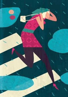 Raining #nick #girl #illustration #rain #shepherd