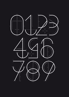 Numerografía - Yorokobu on the Behance Network #typography #craft #numbers