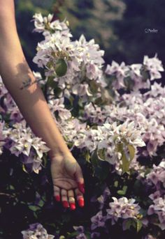 """ As I will, So mote it be ! "" ▲ #divine #red #feminine #hand #women #tattoo #arm #flowers"