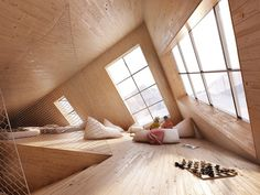 atelier-8000-kezmarska-hut-slovakia-6 #wood #spaces #set