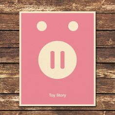 Toy Story 8x10 Print by Posterinspired on Etsy #movie #pink #pig #bank #poster #minimalist #toy #story