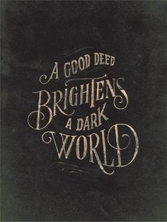 Help Ink — Good Deeds #print #poster
