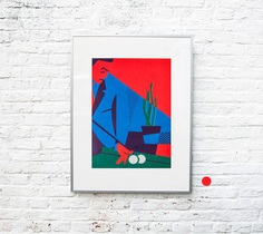 BILJART 3 color screen print