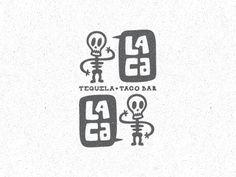 Dribbble - Lacalaca New Direction by Matt Vergotis #logo #illustration #branding #skeletons