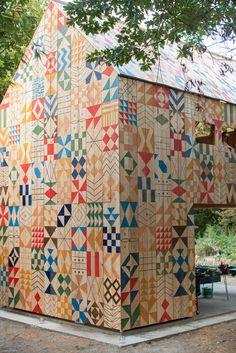 Nous Vous Blog #architecture #geometric #building #pattern #nous vous #studio weave